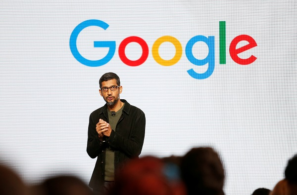 Sundar Pichai speaks during the presentation of new Google hardware in San Francisco