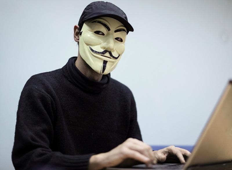 A hacker from Ukrainian 'hactivist' group RUH8 is seen during an interview with Reuters in Kiev, Ukraine, November 3, 2016. REUTERS/Gleb Garanich